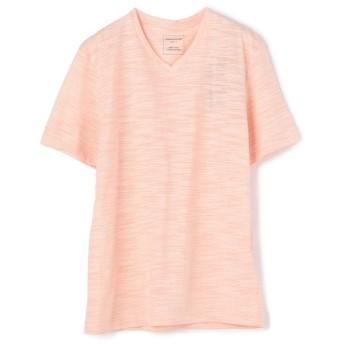 (UNION STATION/ユニオンステーション)VネックTシャツ/メンズ ピンク