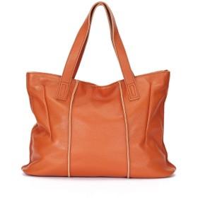 手提げ袋 レディー新しいレトロカジュアルファッション手形ショルダー投げられ大容量婦人用バッグレザーハンドバッグ 手提げ袋 (Color : Brown)