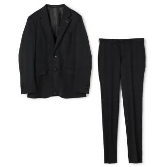 (Men's Bigi/メンズビギ)シャドーチェック柄スーツ/メンズ ブラック
