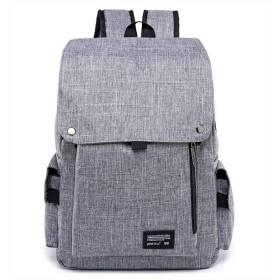 GDAIXGO メンズとレディースファッションオックスフォード布フリップ大容量バックパック (Color : Gray, Size : 42cm29cm13cm)