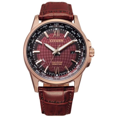 CITIZEN 漫步世界萬年曆光動能腕錶BX1009-10X