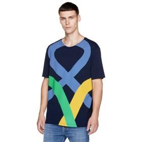 (BENETTON (mens)/ベネトン メンズ)ビッグロゴ半袖Tシャツ・カットソーJCC/メンズ ネイビー