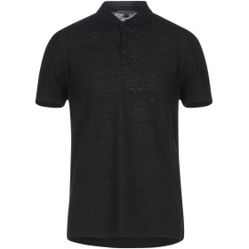 《セール開催中》JOHN VARVATOS メンズ ポロシャツ ブラック XS リネン 100%