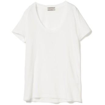 (BEAMS OUTLET/ビームス アウトレット)Ray BEAMS High Basic / スクープ ネック Tシャツ/レディース OFFWHITE