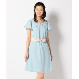 (anySiS/エニィ スィス)【2WAY・洗える】フレアジョーゼット ドレス/レディース スカイブルー系