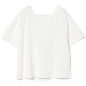 (BEAMS OUTLET/ビームス アウトレット)Ray BEAMS / バック オープン ドレープ Tシャツ/レディース WHITE