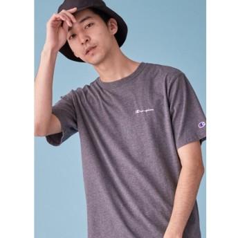 (tk. TAKEO KIKUCHI/ティーケー タケオキクチ)Champion for tk. TAKEO KIKUCHI ロゴ刺繍Tシャツ/メンズ チャコールグレー(714)