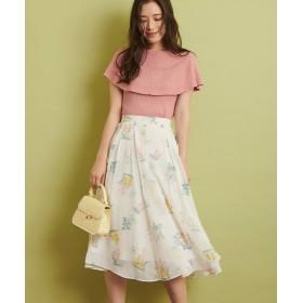 (Noela/ノエラ) 【セットアップ対応商品】ペールフラワープリントスカート/レディース オフホワイト
