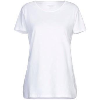 《セール開催中》MAJESTIC FILATURES レディース T シャツ ホワイト 1 コットン 100%