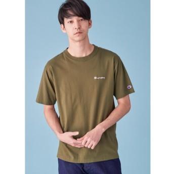 (tk. TAKEO KIKUCHI/ティーケー タケオキクチ)Champion for tk. TAKEO KIKUCHI ロゴ刺繍Tシャツ/メンズ カーキ(027)