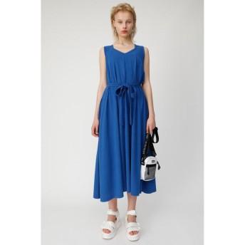 (moussy/マウジー)CUT FLARE LONG ドレス/レディース BLU