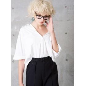 (MIELIINVARIANT/ミエリインヴァリアント)Draping Silky Shirt/レディース ホワイト