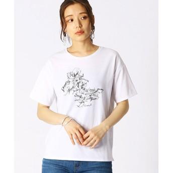 (COMME CA ISM/コムサイズムレディス)グラフィカルTシャツ/レディース ホワイト