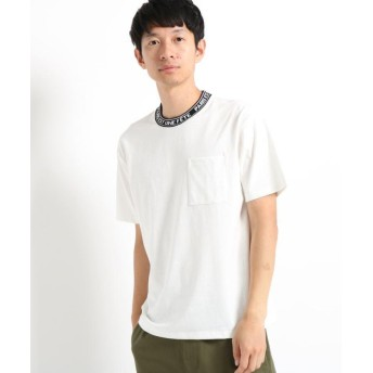 (THE SHOP TK/ザ ショップ ティーケー)【WEB限定】ネックロゴTシャツ/メンズ オフホワイト(003)