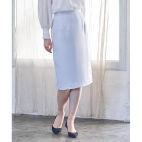 (ANAYI/アナイ)【セットアップ対応商品】トリアセテートサテンタイトスカート/レディース サックス