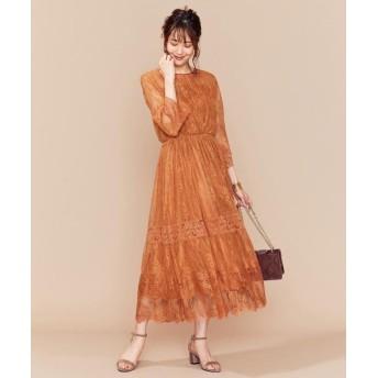 (KUMIKYOKU/クミキョク)【新色追加!】総レースロング ドレス/レディース オレンジ系