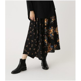 (AZUL by moussy/アズールバイマウジー)FLORAL ASYMMETRY SKIRT/レディース 柄BLK5