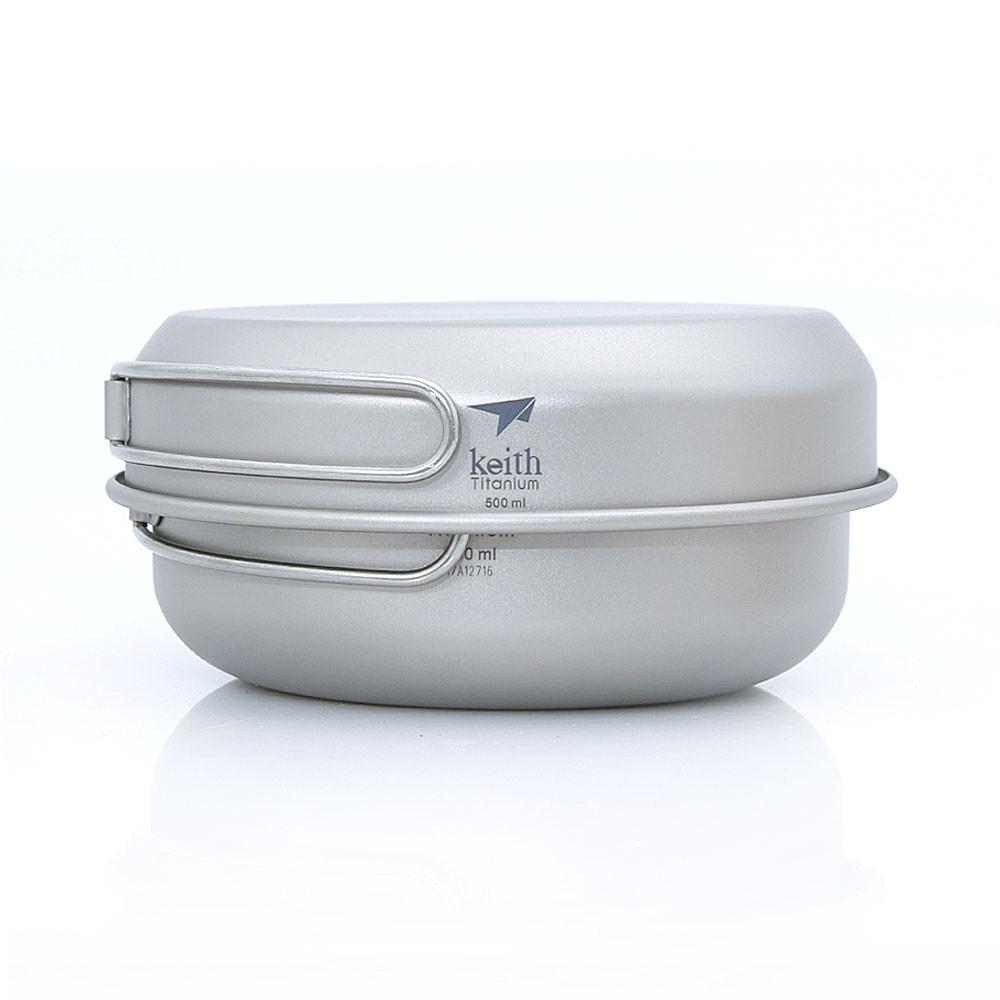【Keith純鈦】Ti6053三件式套鍋組 (500ml+550ml+680ml)/調理鍋 輕量《WUZ屋子》