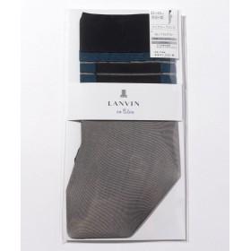 (LANVIN en Bleu(ladies socks)/ランバンオンブルーレディスソックス)バイカラーブロック クルー丈/レディース ソルブラン