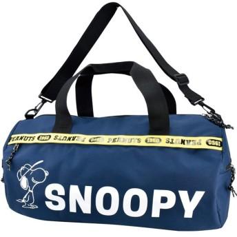 (RUNNER/ランナー)SNOOPY スヌーピー ロゴライン ボストンバッグ/ユニセックス ネイビー