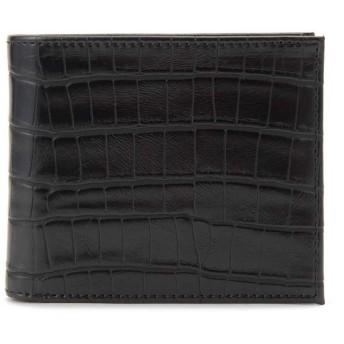 (SUN BRAMND/サンブランド)monte SPIGA モンテスピガ 二つ折り財布 MOSQS371A クロコ型押し メンズ/メンズ ブラック