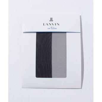 (LANVIN en Bleu(ladies socks)/ランバンオンブルーレディスソックス)交編パンスト(M-L)/レディース サフィール