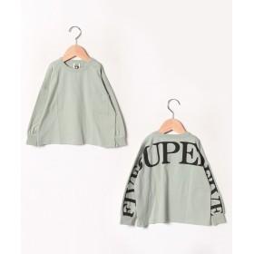 (SUPERFIVE/スーパーファイブ)オーバーサイズ長袖Tシャツ/レディース カーキ