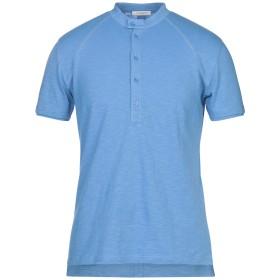 《セール開催中》PAOLO PECORA メンズ T シャツ アジュールブルー M コットン 100%