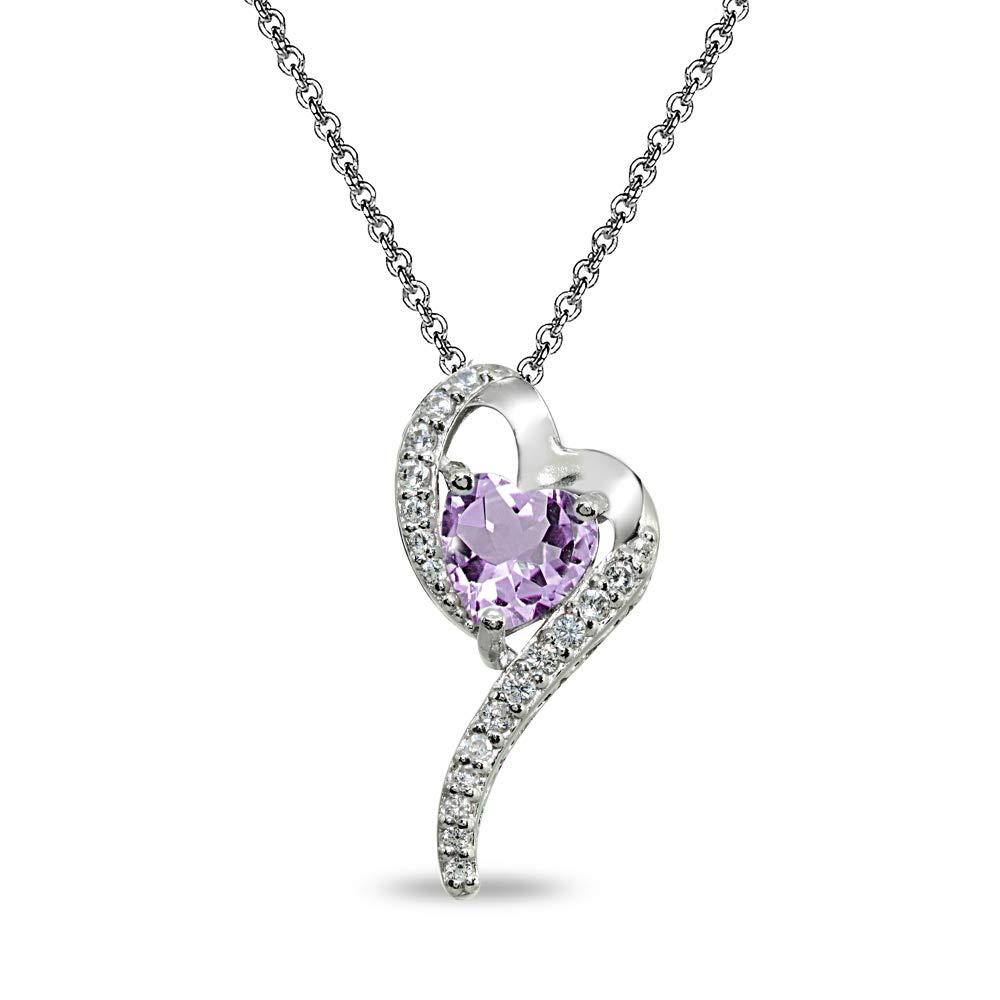 DiamondJewelryNY Sterling Silver Cz Heart Slide