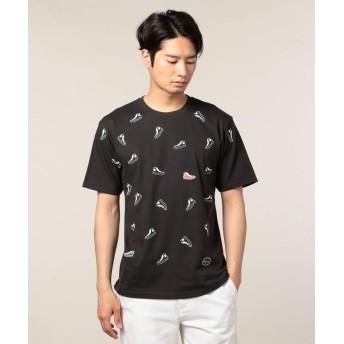 (FREDYMAC/フレディマック)NEW スニーカーだらけTシャツ/ユニセックス チャコールグレー