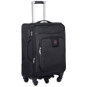 ダブルホイール付きの拡張可能な荷物 20インチ24インチ28インチ展開式アップライトキャリースーツケースオックスフォード生地荷物3ピース入れ子セットソフトシェル軽量360°サイレントスピナー多方向ホイール(旅行用飛行機のフライトとチェックイン) 超軽量のABSハードシェル荷物 (色 : Black, Size : 20in+24in+28in)