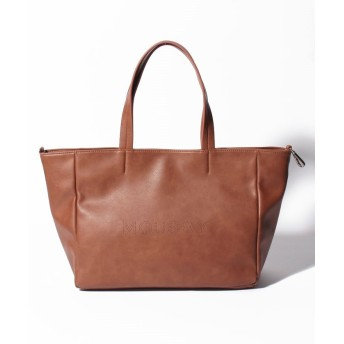 (MOUSSY(BAG)/マウジー バッグ)【MOUSSY】LOGO PUNCHING BASIC TOTE M/レディース BR