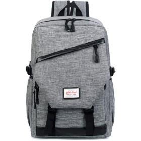 GDAIXGO 男性と女性のアウトドア旅行大容量カジュアルバックパック (Color : Gray, Size : 46cm30cm13cm)