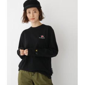 (BASECONTROL/ベースコントロール)MARK GONZALES マークゴンザレス 別注 長袖 Tシャツ/レディース ブラック(019)