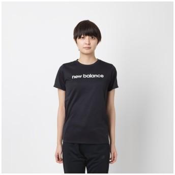 (New Balance/ニューバランス)ニューバランス/レディス/S/S T スムースニット/レディース ブラック