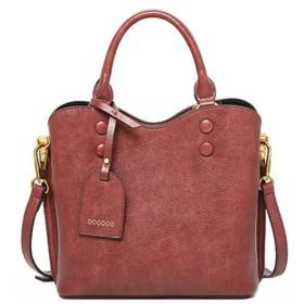 PUレザーワイルドトートソフトレザーショルダーバッグワイルドショルダーバッグコスメティックバッグ (Color : 褐色, Size : 231222cm)