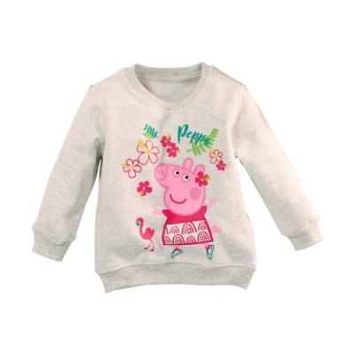 魔法Baby 女童 粉紅豬小妹授權正版刷毛厚保暖長袖T恤 k61143