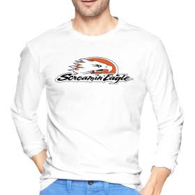 ハーレーダビッドソン Harley Davidson ロゴ ロングTシャツ メンズ パーカー カットソー ロンT 長袖 ワンポイント クルーネック シンプル TシャツM White