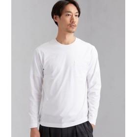 (green label relaxing/グリーンレーベルリラクシング)CM オーガニック クリア クルー 長袖 Tシャツ/メンズ WHITE