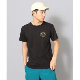 (SHIPS JET BLUE/シップス ジェットブルー)ALMOND SURF:プリントTシャツ/メンズ ブラック