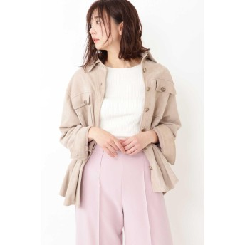 JILLSTUART ◆モリースエードシャツジャケット ベージュ FR
