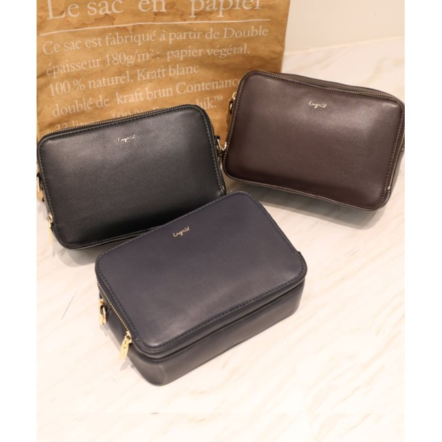 (UNGRID bag/アングリッド バッグ)お財布ショルダー (スムースレザー)/レディース NVY