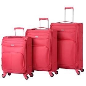 ダブルホイール付きの拡張可能な荷物 20インチ24インチ28インチ軽量スーツケース3ピース荷物ネストセットTSAロック付きオックスフォード生地ソフトサイドキャリーオンエクスパンダブルアップライトスーツケースソフトシェル360°サイレントスピナー多方向ホイール(旅行用) 超軽量のABSハードシェル荷物 (色 : Fuchsia, Size : 20in+24in+28in)