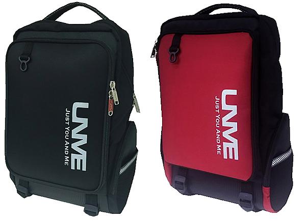 ~雪黛屋~UNME 後背書包大容量可A4資夾電腦多隔層水瓶外袋口EVA高密度超輕量MIT製護脊U3268