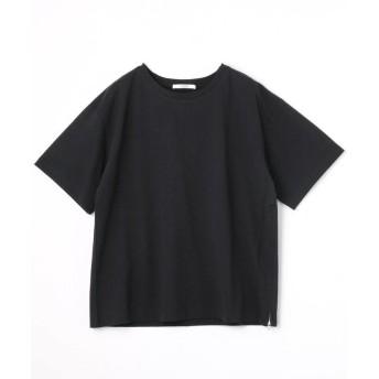 (Grand PARK/グランドパーク)サイドファスナーショートTシャツ/レディース 49ブラック