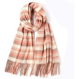 チェック柄ブランケットビッグスクエアロングタータンチェックはネッカチーフ女性スカーフ、冬のショールは、女性のための屋外の暖かさのprintedspliceタッセルラップレジャーをキープ (Color : 04)