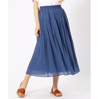 (COMME CA ISM/コムサイズムレディス)ギャザースカート/レディース ブルー