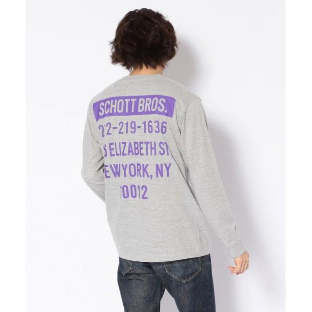 (Schott/ショット)【WEB限定】LS T-SHIRT STORE ADRRESS/ストア アドレスTシャツ/メンズ GREY