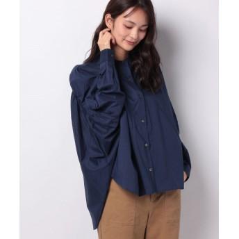 (MARcourt/マーコート)【mizuiro ind】back gatherd wide shirt/レディース NAVY
