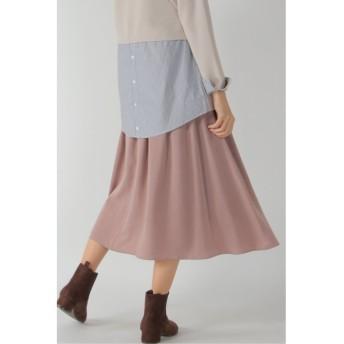 (ikka/イッカ)ベルト付き起毛ギャザースカート/レディース ピンク